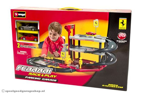 speelgoed ferrari garage