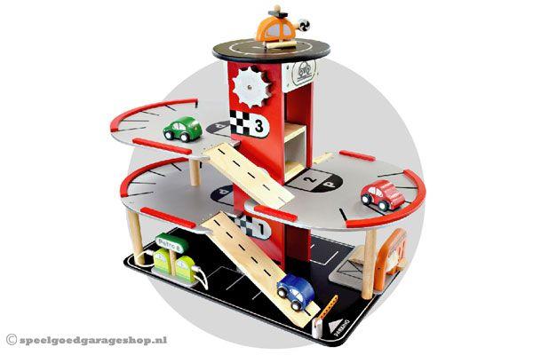 Houten Garage Speelgoed : I m toy parkeergarage met helikopterplatform speelgoedgarageshop