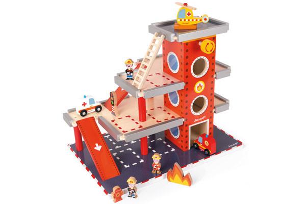 Speelgoed Garage Hout : Janod brandweerkazerne speelgoedgarageshop