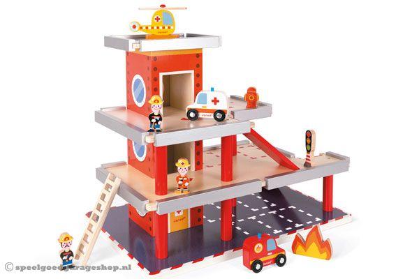 Houten Garage Janod : Janod garage altijd de laagste prijs bij speelgoedgarageshop.nl