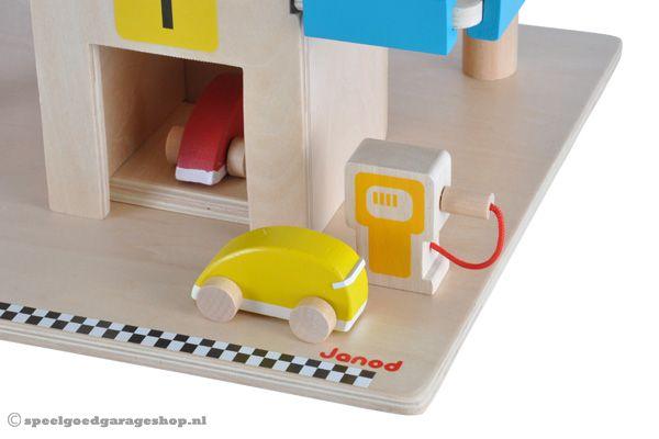 Houten Garage Janod : Janod garage met wagens speelgoedgarageshop