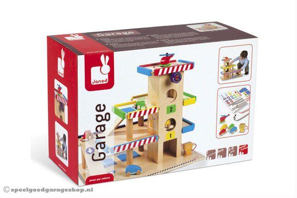 Houten Garage Speelgoed : Janod garage met wagens speelgoedgarageshop