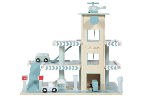 Speelgoed Garage Hout : Little dutch houten speelgoedgarage blauw speelgoedgarageshop