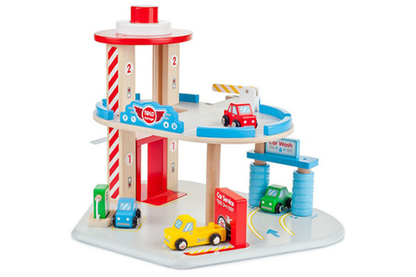 Garage set van Woodtoys.